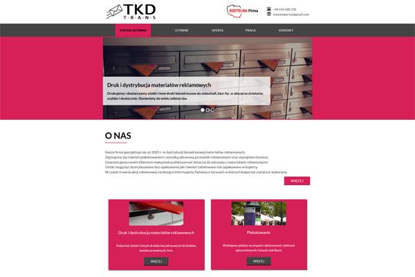 TKD TRANS - druk i dystrybucja materiałów reklamowych, plakatowanie